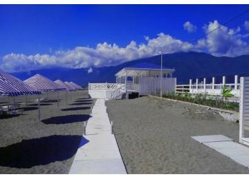 Собственный пляж|  отель  Парадиз Бич |  Абхазия, Пицунда